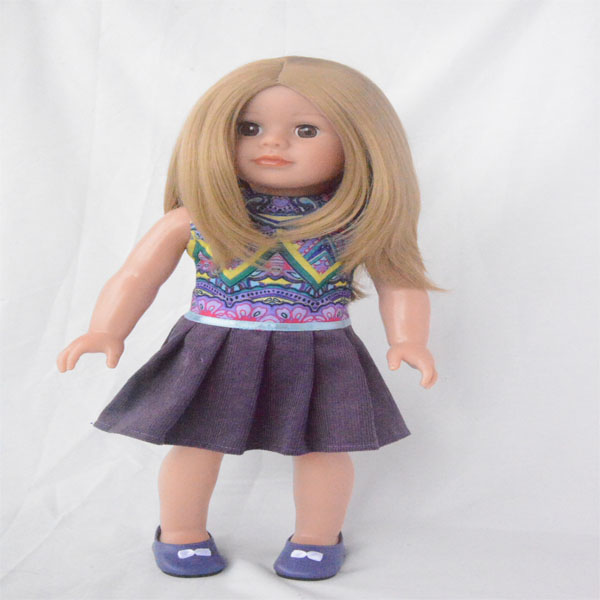 dark blue skirt skirt for 18 inch vinyl doll accessories