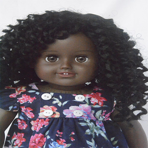 curly hair  girl doll for vinyl doll