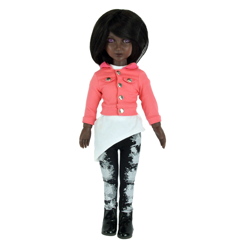 Custom American girl doll,18 inch black vinyl doll