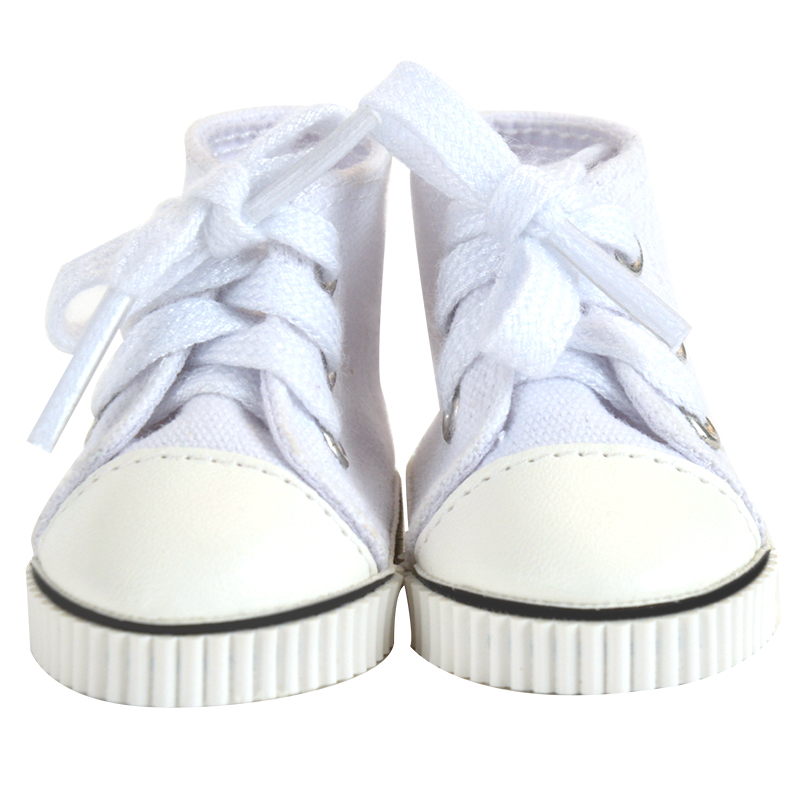 2019 wholesale new boll jointed doll shoes with white color fit for 18 inch girl doll
